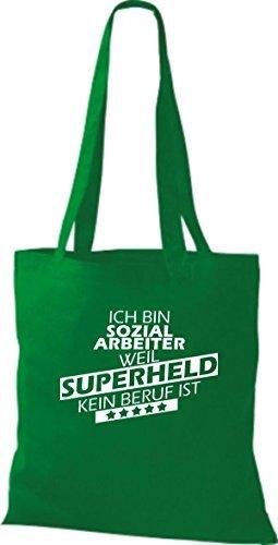 Shirtstown Bolso de tela Estoy Trabajador social, weil Superheld sin Trabajo ist kelly