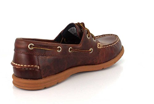 SEBAGO - LITESIDES Two Eye - grey Cuero marrón aceitado ceroso
