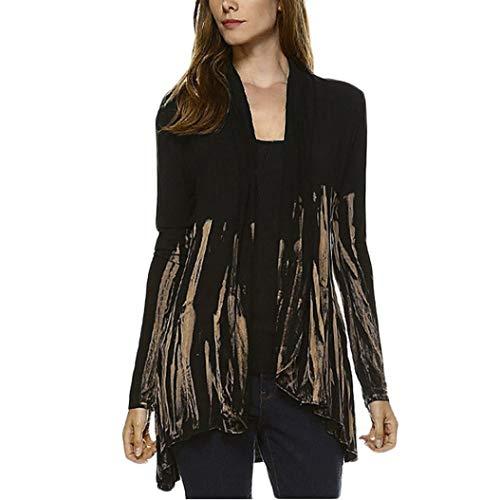 Manteau Cardigan Femme Impression Couleur Longues Kaki Dgrade Manches Blouse en AIMEE7 7gtfWTg