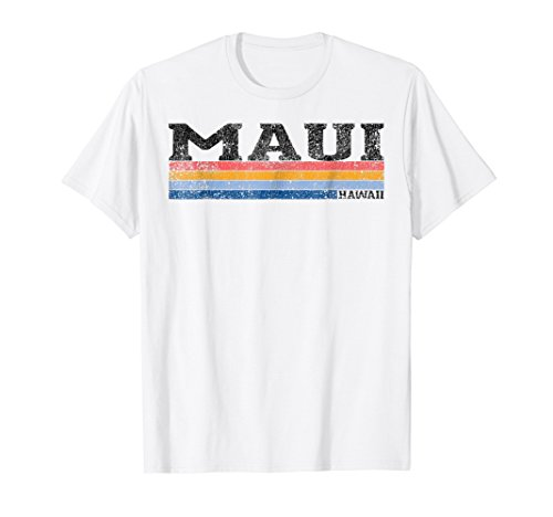 f794843a Mens Vintage 1980s Style Maui Hawaii T-Shirt 2XL White