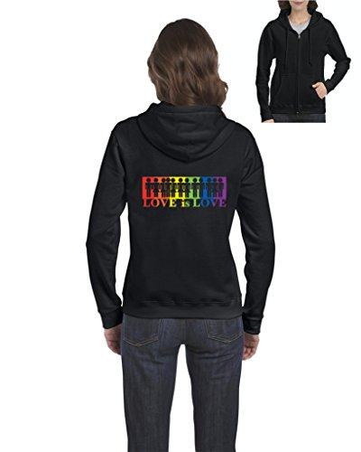 NIB Love Is Love Gay Pride LGBT Gift For Family Friend Birthday Christmas Womens Sweaters Zip - Maps Invitation Wedding