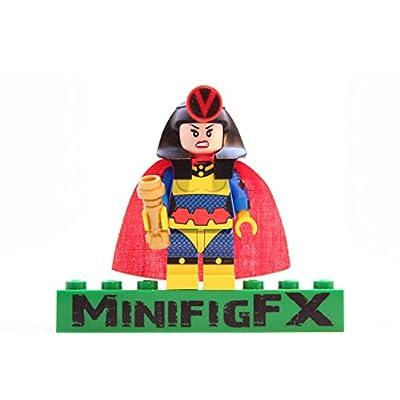 LEGO Custom Big Barda Minifigure DC Comics Justice League Barda Free Made Using Genuine Parts: Toys & Games