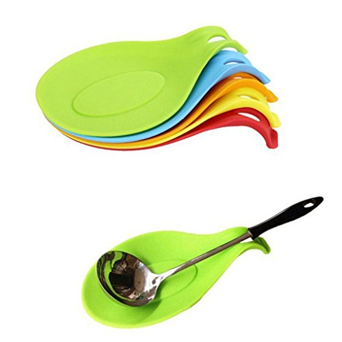 Flexible Silicone Heat Resistant Spoon Fork Mat by MERRY BIRD ()