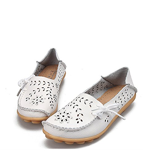 Cave Casual Large Flat Shoes White 4ABU1eaP