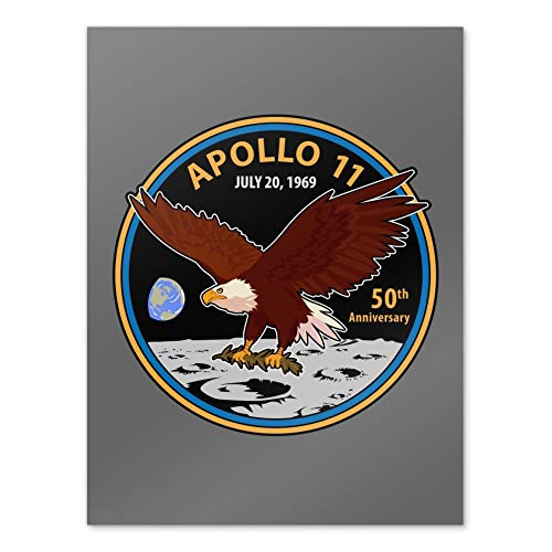 GRAPHICS & MORE NASA Apollo 11 50th Anniversary Patch with Eagle on The Moon Home Business Office Sign - Poster - 18