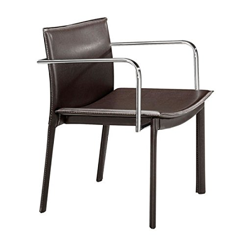 ZUO-Furnitures Dining Chairs, Espresso Gekko Eclectic Design Modern Conference Chairs, Set of ()