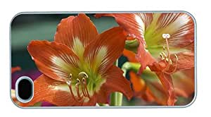 Hipster funny iPhone 4 cover Auburn Lilies PC White for Apple iPhone 4/4S