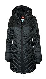 Columbia Women\'s Morning Light II Omni Heat Long Jacket Coat Puffer, BLACK (L)