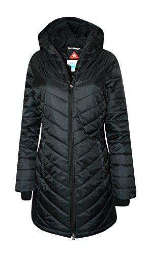 Columbia Women's Morning Light II Omni Heat Long Jacket Coat Puffer, BLACK (M) by Columbia