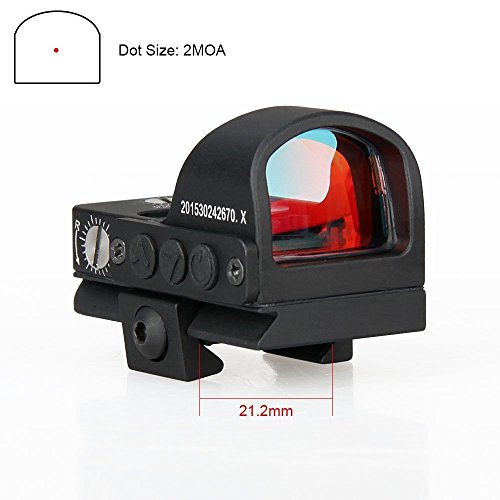- E.T Dragon Mini Compact 2 moa Red Dot Sight for Pistol Glock Shotgun or Rifle,Super Waterproof &Shock Resistance Canis LATRANS Tactical Rifle Red dot Sights for Shooting Hunting