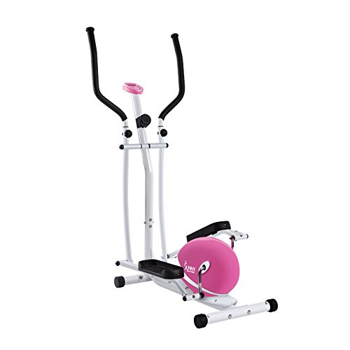 Sunny Health and Fitness Pink Magnetic Elliptical Trainer Sunny Health & Fitness P8300 Pink Magnetic Elliptical Trainer Elliptical Machine w/LCD Monitor 41IQRMcDmOL