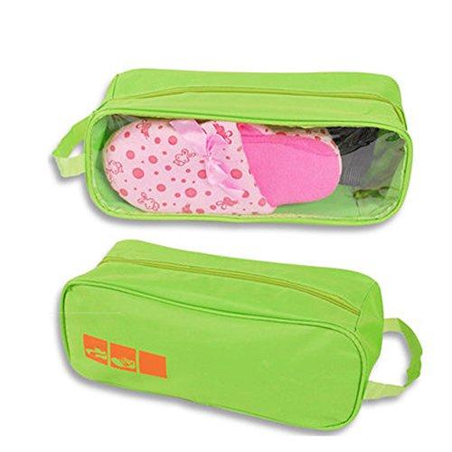 Portable Travel Friends Borse Da Viaggio Impermeabili In Tessuto Oxford Visual Type Shoe Bag Organizer Container Green 1 Pz