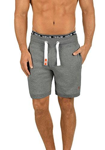 Chándal Hombre Grey Suave 8236 Polar Forro Con Corto Melange Bennshorts Al Bermudas Pantalón Tacto solid Sweat Para RFUqnSwx
