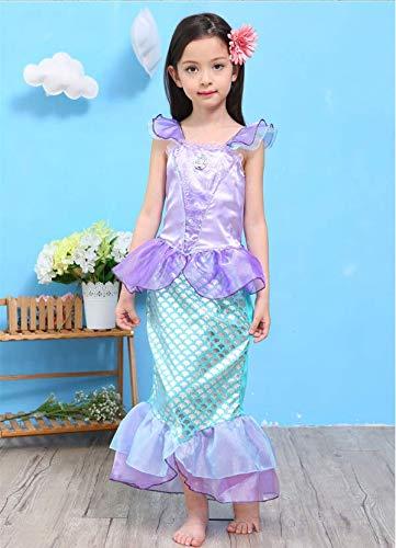 52157d2a1e666 人魚姫コスチューム ハロウィンコスチューム キッズ 子供服 プリンセスドレス コスプレ衣装 ワンピース 演劇ドレス 120cm
