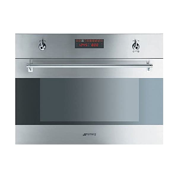 "SU45MCX 24"" Stainless Steel Built-In Speed Oven With 10 Cooking Functions 1000W Microwave Digital LED display Ergonomic Control Knobs Child Safe Control Lock & In Stainless 1"