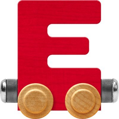 NameTrain Bright Letter Car E - Made in USA (Red)