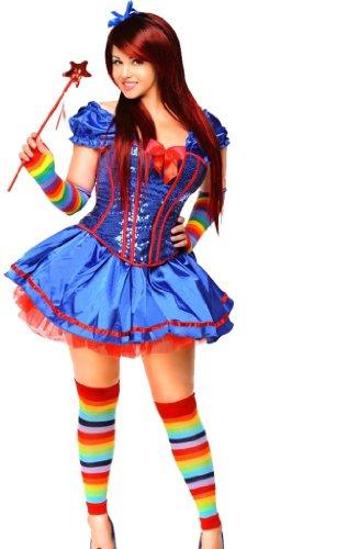 Rainbow Brite Costumes Kids (Daisy Corsets 6 PC Sexy