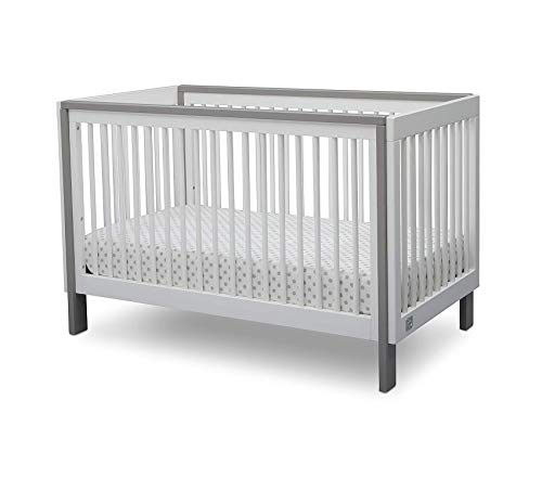 Sеrtа Deluxe Premium Collection Fremont 3-in-1 Convertible Crib Bianca White with Aqua and Perfect Evening Air Crib and Toddler Mattress Decor Comfy Living Furniture