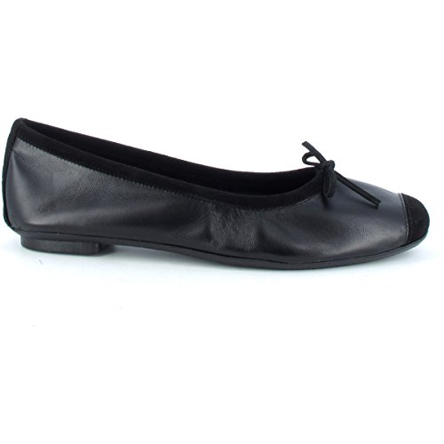 Skin Black Harmony Reqins Leather Ballerinas wFqaaSI