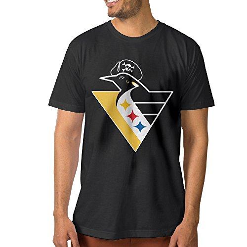 PTCYM Penguin Ice Hockey King Cool Men's T-shirt L Black