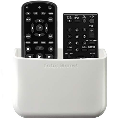 TotalMount Universal Remote Holder (Quantity 1 – Two Remotes per Holder – White)