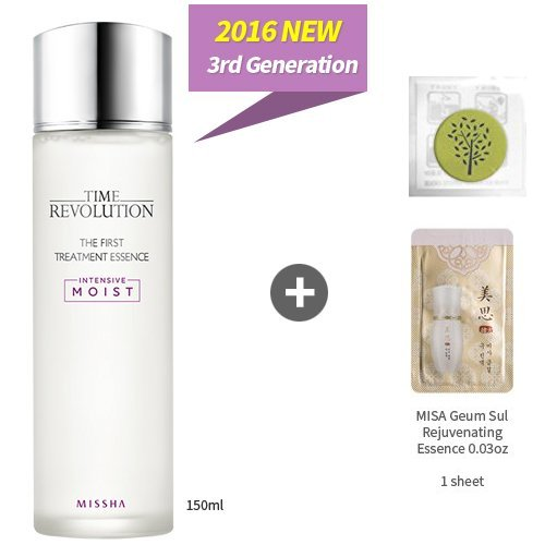 NEW Missha Time Revolution the First Treatment Essence Intensive Moist 5.07oz(150ml)+Sample1