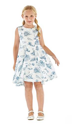Girl Hawaiian Vintage Fit and Flare Dress in Vintage Tropical Toile
