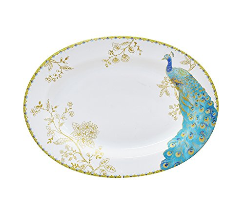 (222 Fifth Peacock Garden Porcelain Dinnerware Collection: 14
