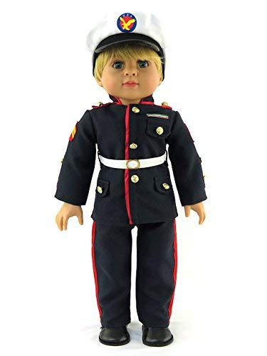 "Marines Formal Suit – Fits 18 "" American Girl人形、Madame Alexander、当社の世代、など。| 18インチ人形Clothes   B078YD45SP"