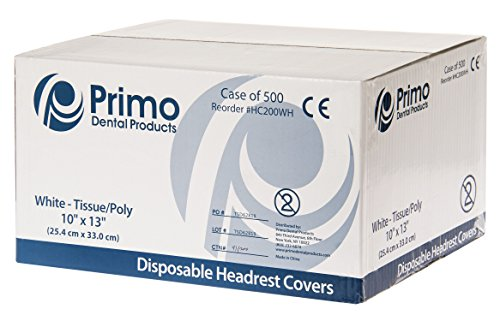 Primo Dental Products HC200WH Headrest Covers Paper Tissu...