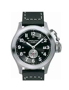 Hamilton Khaki Navy Frogman H77415733 - Reloj de caballero automático, correa de piel color verde