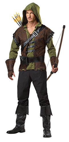 Renaissance Festival Halloween Costumes (California Costumes Robin Hood Adult Costume, Olive/Brown,)