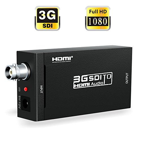 SDI to HDMI, ABLEWE SDI HD-SDI 3G-SDI to HDMI 720p/1080p Adapter Video Converter with Embedded Audio