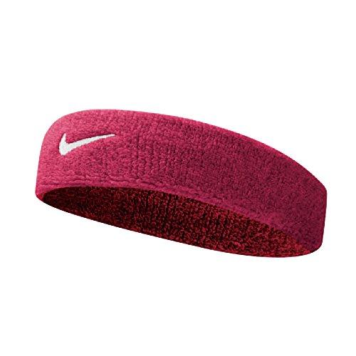 NIKE Swoosh Headband Osfm,Vivid Pink/White