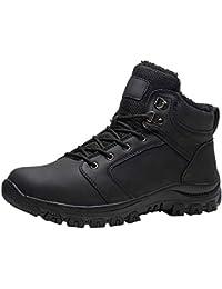 Fur Lined Men's Snow Boots Outdoor Waterproof Winter Shoes Non-Slip