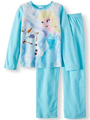 AME Girls Frozen Elsa & Olaf 2 pc Brushed Jersey Long Sleeve Pajamas (6/6X) ()
