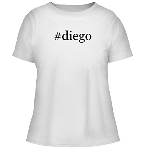 BH Cool Designs #Diego - Cute Women's Graphic Tee, White, X-Large