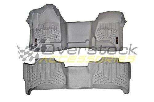 - WeatherTech (464341-463053 Over The Hump FloorLiner, Front/Rear, Gray