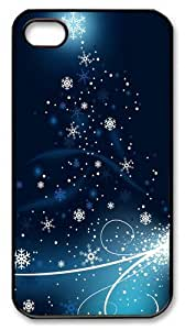 Snowflakes 2014 New Year Custom iPhone 4s/4 Case Cover Polycarbonate Black Thanksgiving Day gift