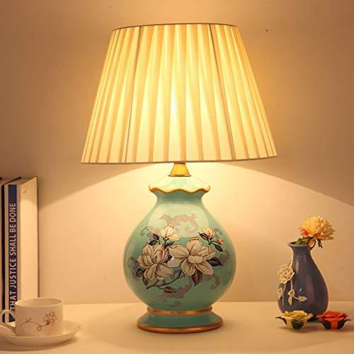 Home Experience- American Modern Table Lamp Bedroom Bedside Ceramic Desk  Light Living Room Warm Lighting Decoration