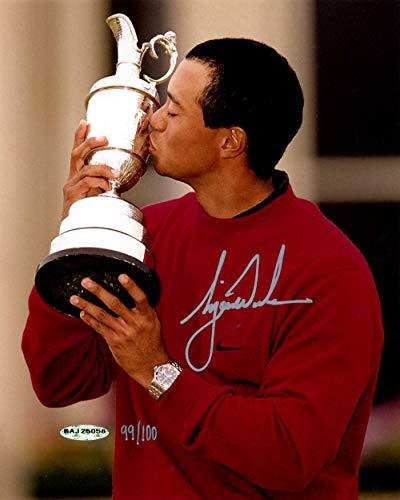 Tiger Woods Autographed 8x10 Photo 2000 British Open LE /100 UDA Holo