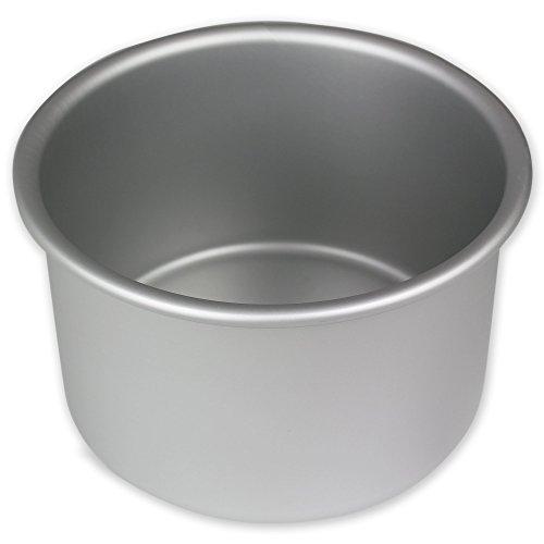 Deep Round Cake Pan - PME RND064 Round Seamless Professional Aluminum Baking Pan, 6