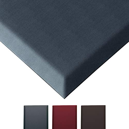 Royal Anti-Fatigue Comfort Mat - 24 in x 36 in x 7/8 in - Ergonomic Multi Surface, Non-Slip - Waterproof All-Purpose Luxurious Comfort - For Kitchen, Bathroom or Workstations - Black