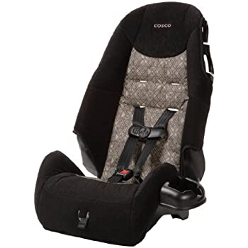 Cosco - Highback 2-in-1 Booster Car Seat - 5-Point Harness or Belt-positioning - Machine Washable Fabric, Canteen