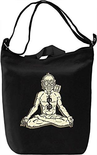 Zen man Borsa Giornaliera Canvas Canvas Day Bag| 100% Premium Cotton Canvas| DTG Printing|