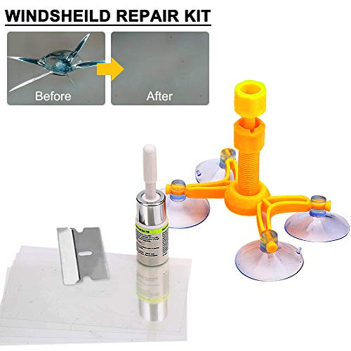 DIY Windshield Repair Kit for Car Windshield Crack Repair, Auto Glass Small Cracks and Chips Windshield Treatment with Direction