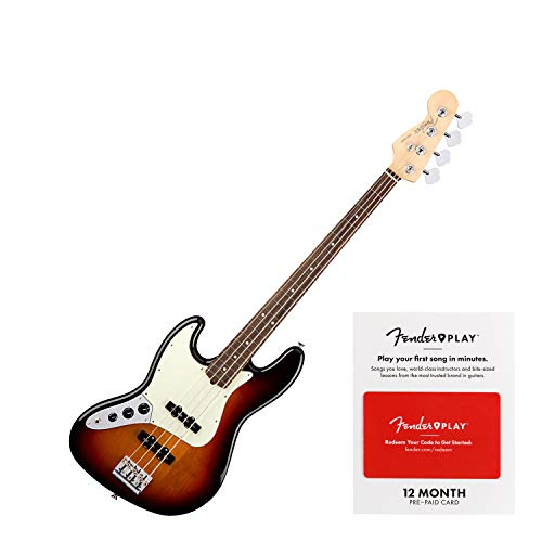essional Jazz Bass, Left-handed - 3-color Sunburst ()
