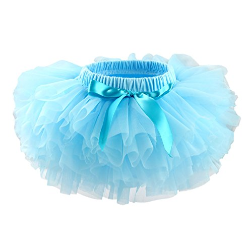 Slowera Baby Girls Soft Tutu Skirt (Skorts) 0 to 36 Months (M: 6-12 Months, Blue)