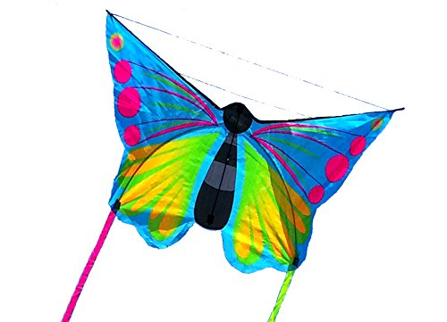 46inch-colorful-butterfly-kite-single-line-easy-to-fly-insect-nylon-kite-with-flying-tool-blue