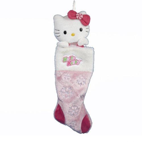 Hello Kitty Kurt Adler Plush Head Stocking